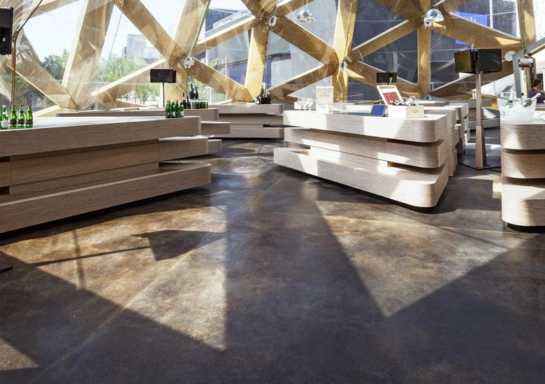 Pavimenti in cemento per interni