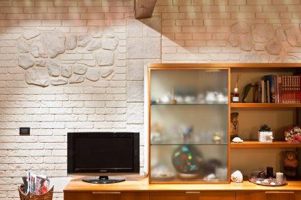 Rivestimento muro stampato in una casa privata